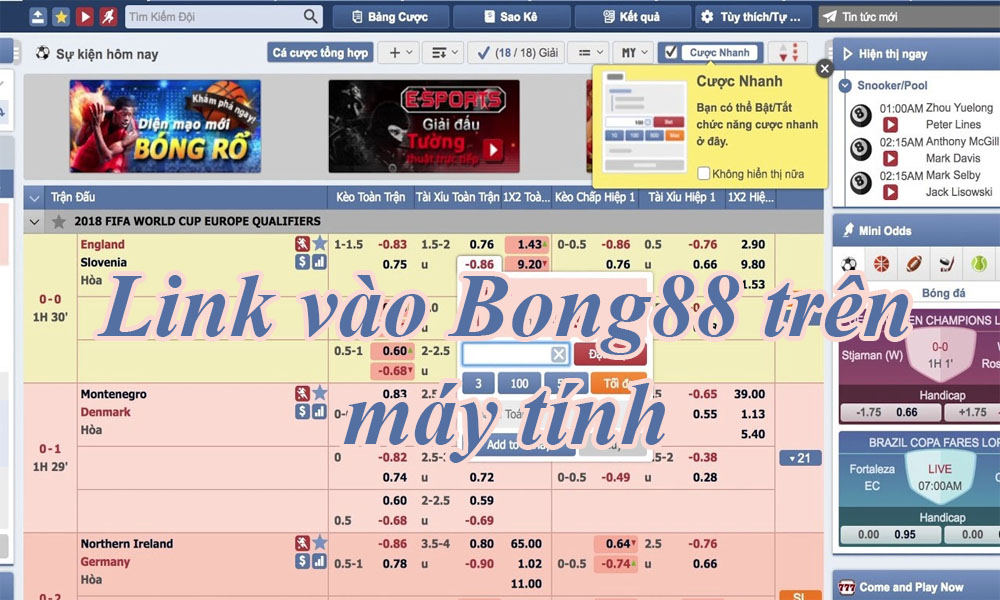 Link vào Bong88 trên máy tính